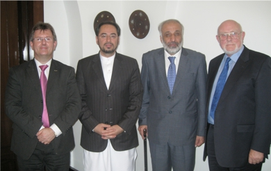 Meeting with Salahuddin Rabbani, Chairman of the High Peace Council in Kabul, Afghanistan