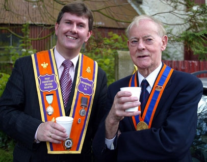With my predecessor Lord Molyneaux on the 12th July