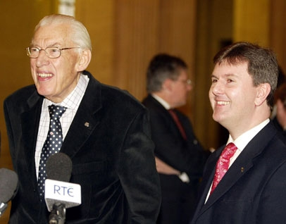 With former First Minister Dr Ian Paisley
