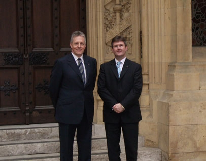 With current First Minister Peter Robinson following our appointment to Her Majesty's Privy Council.