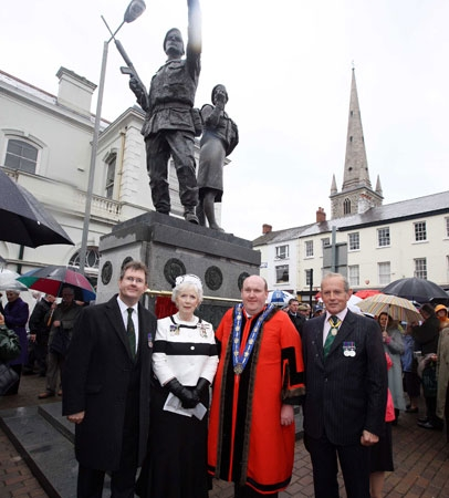 Unveiling the UDR memorial in Lisburn City Centre